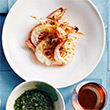 Dan Hong's grilled king prawns with seaweed salsa verde thumb image