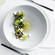 Brent Savage's river trout with cucumber, purslane and almond