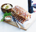 Roast rack of pork with fennel and turnips thumb