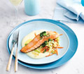Salmon with Irish Potato sauce