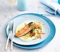 Salmon with Irish Potato sauce