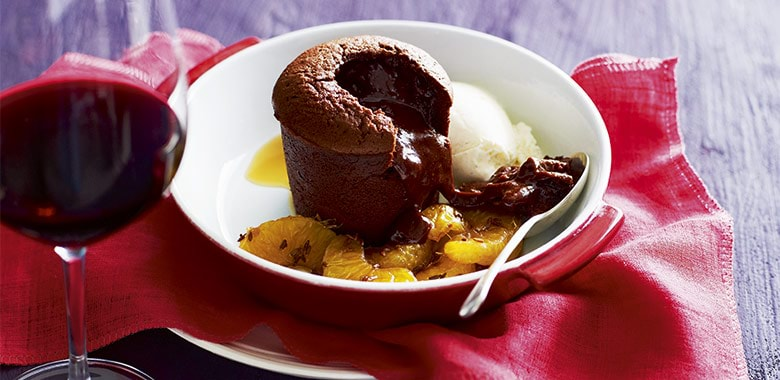 Chocolate Fondant With Mandarin And Icecream Recipe