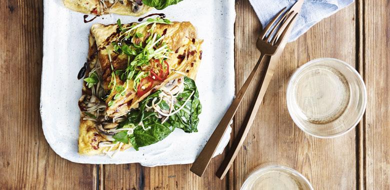 Lyndey Milan's Asian-style mushroom omelette