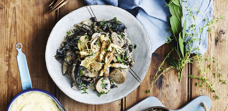 Lyndey Milan's Mushroom Ragout with Creamy Polenta