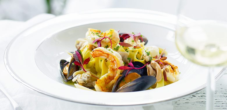 Linguine Of Prawns Mussels Clams Recipe