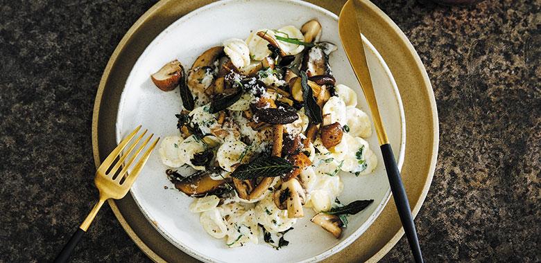 Mushroom-Garlic-Orecchiette