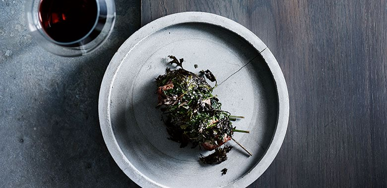 Peter Gunn's lamb neck wrapped in parsley