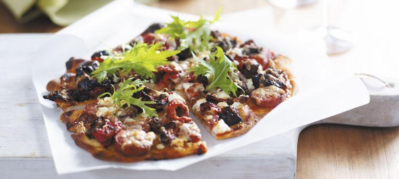 Chorizo Mediterranean Vegetables And Goat Curd Pizza Landscape Recipe