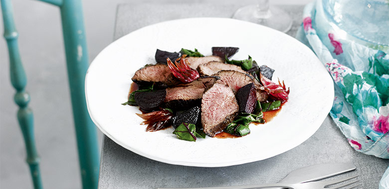 Kangaroo With Native Ingredients Australia Day Food Recipe