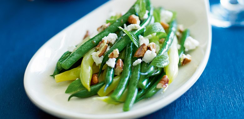 Green Butter Beans Goats Cheese Pecans And Walnut Dressing Recipe