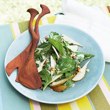 Rocket Pear Walnut Salad Recipe