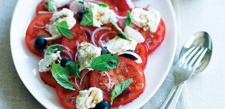 Tomato Buffalo Mozzarella And Olive Salad Recipe