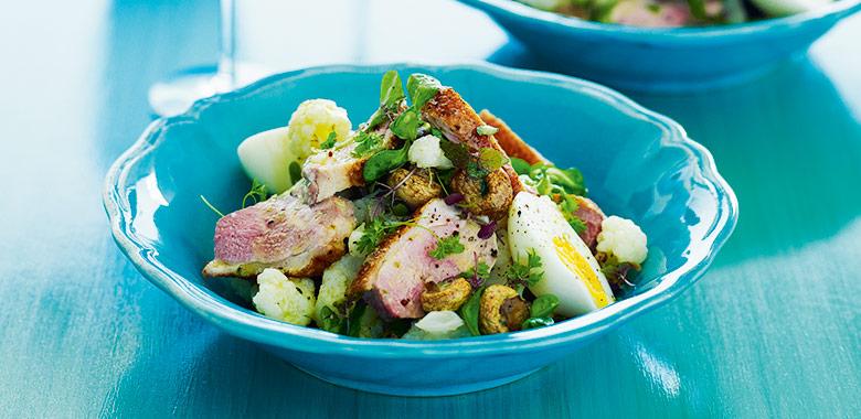 Warm Duck Breast Cauliflower Salad Recipe