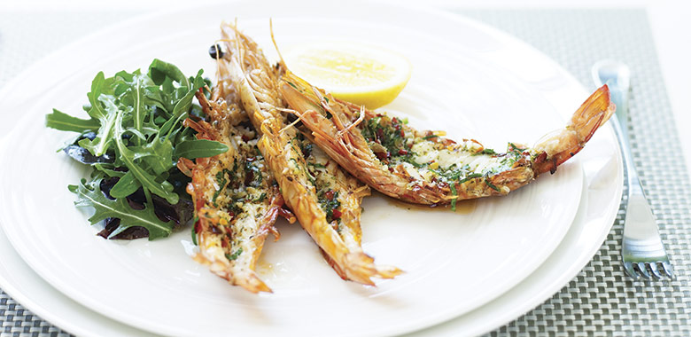 Barbecue Split Prawns With Chilli Oregano And Olive Oil Australia Day Bbq Prawn Recipe Recipe