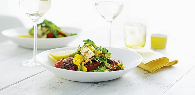 Barbecued Cuttlefish With Chorizo And Pine Nut Salad Recipe