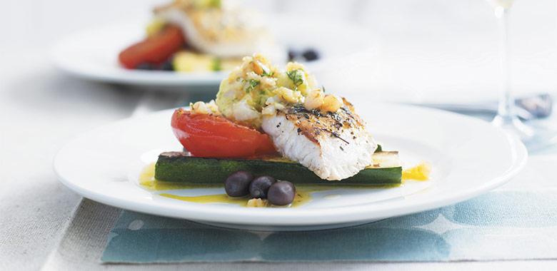 Blue Eye Zucchini Tomato Prawn Recipe