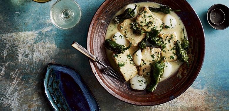 Javier Condinas Spanish Mackerel And Seared Hervey Bay Scallops Salsa Verde Recipe