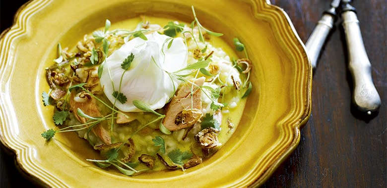 Kedgeree Of House Smoked King Salmon With Poached Egg Recipe