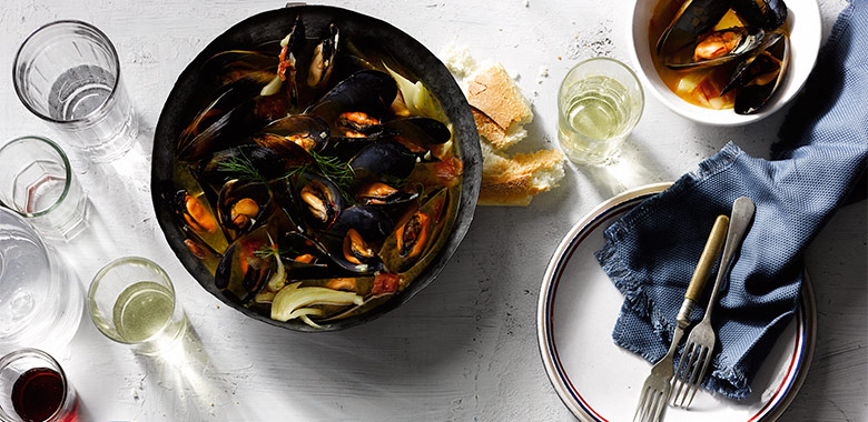 Mussels In Saffron Pastis Broth Recipe