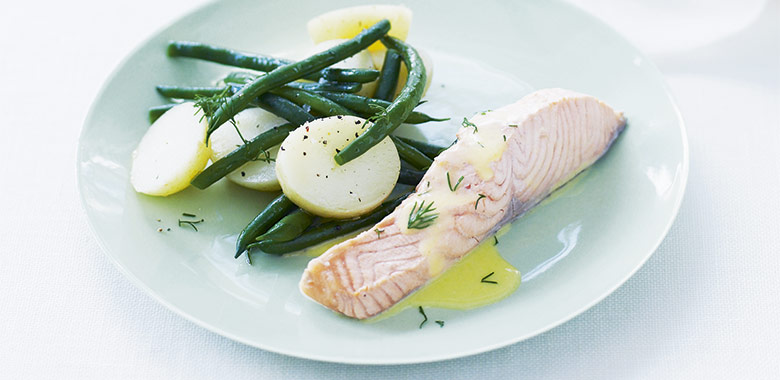 Poached Alantic Salmon With Chervil Cream Recipe
