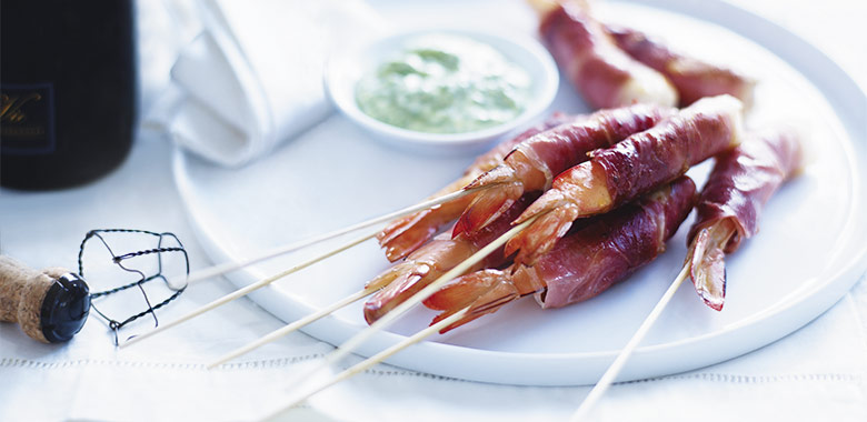 Prosciutto Wrapped Prawns Recipe