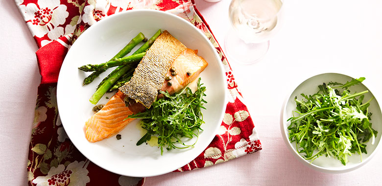 Prosciutto Wrapped Regal King Salmon With Crisp Capers Recipe