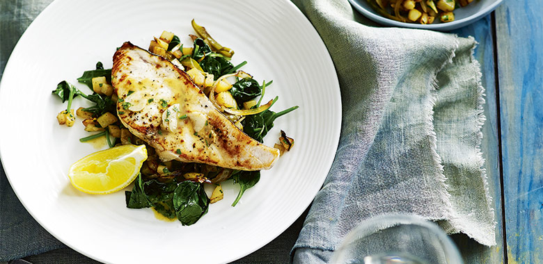 Swordfish With Lemon Anchovies And Garlic Recipe