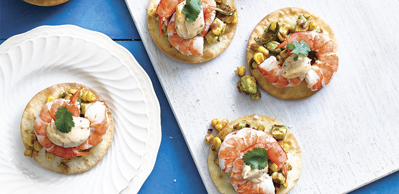 Prawn Tostadas With Chipotle Mayo Recipe