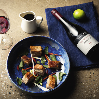 Yalumba Old Bush Vine Paired with Asian-style pork belly