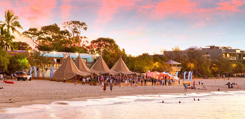 Tipis on Main Beach - Noosa Food & Wine Festival