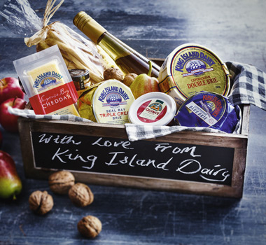 a heavenly cheese hamper