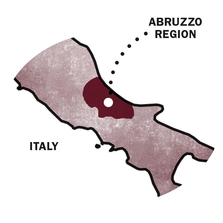 Montepulciano wine origins in Abruzzo Italy