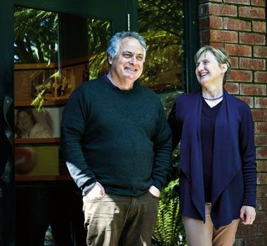Leanne De Bortoli and Steve Webber