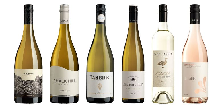 Top whites of 2017 - In Dreams | Chalk Hill | Tahbilk | Long Rail Gully | Cape Barren | De Iuliis
