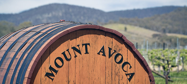 The Grampians Mount Avoca Winery wine barrel
