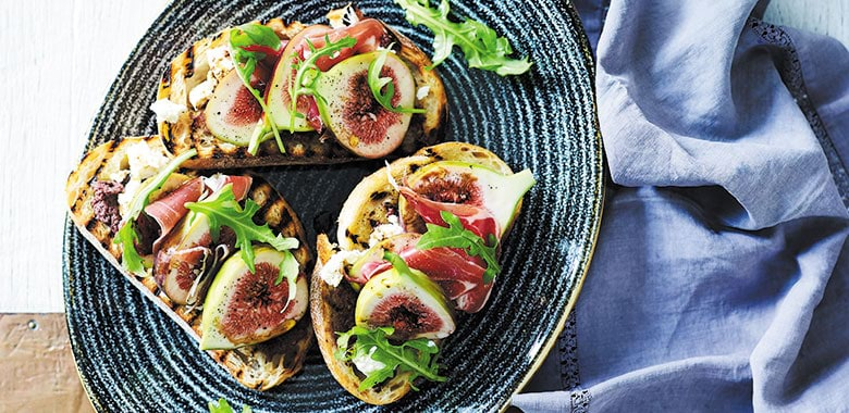 Jamon fig and ricotta bruschetta recipe
