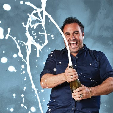 Celebrating with Miguel Maestre
