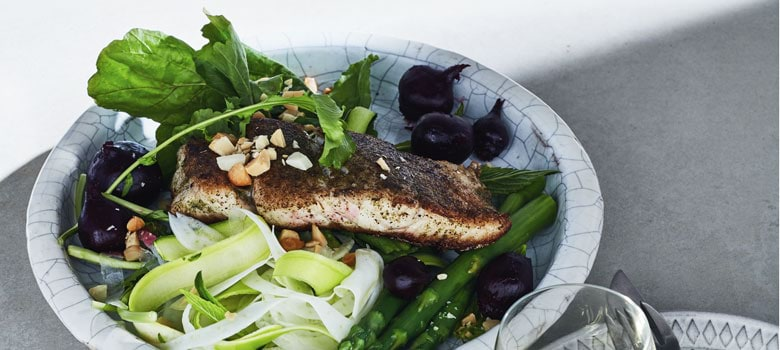 Lyndey Milan's barramundi with lemon myrtle and native spices