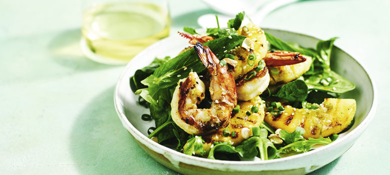 Lyndey Milan's prawn & pineapple salad with lime dressing