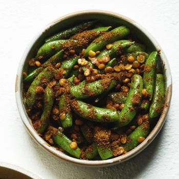 Shane Delia's Sugar snap peas