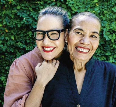 Marion Grasby and her mother Noi