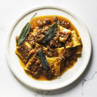 Massimo Mele's Paccheri genovese recipe