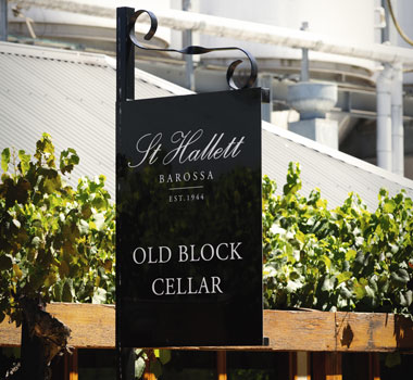 St Hallett wines Old Block cellar