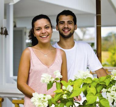 Miguel Coelho and Carolina Caldas in Vanuatu
