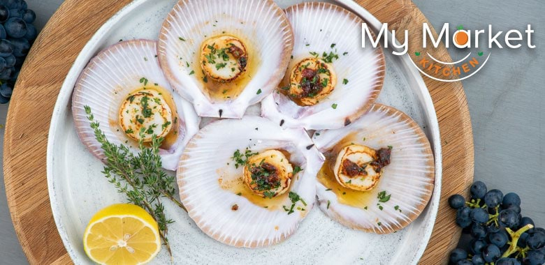 My Market Kitchen's Scallops with Beurre Noisette