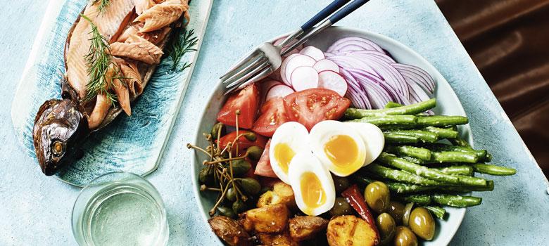 Andy Allen's Trout Nicoise Salad