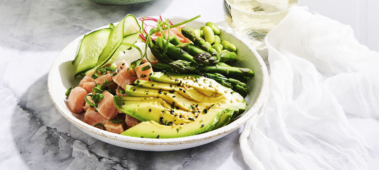 Avocado Salmon Poke Bowl