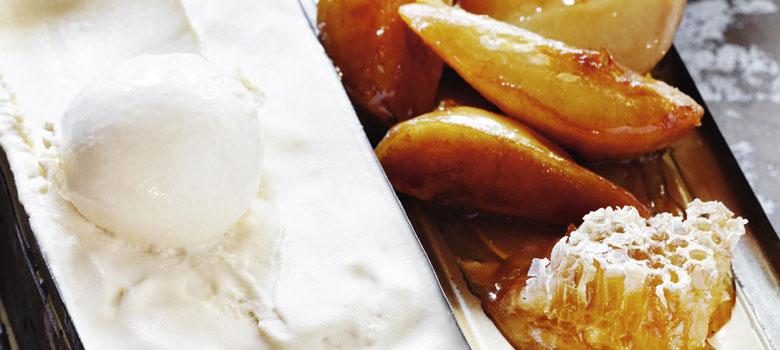 Caramelised Maple Pears
