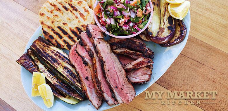 Barbecued Mediterranean Lamb and Veggies