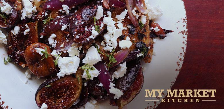 Roast Chook and Caramelised Figs